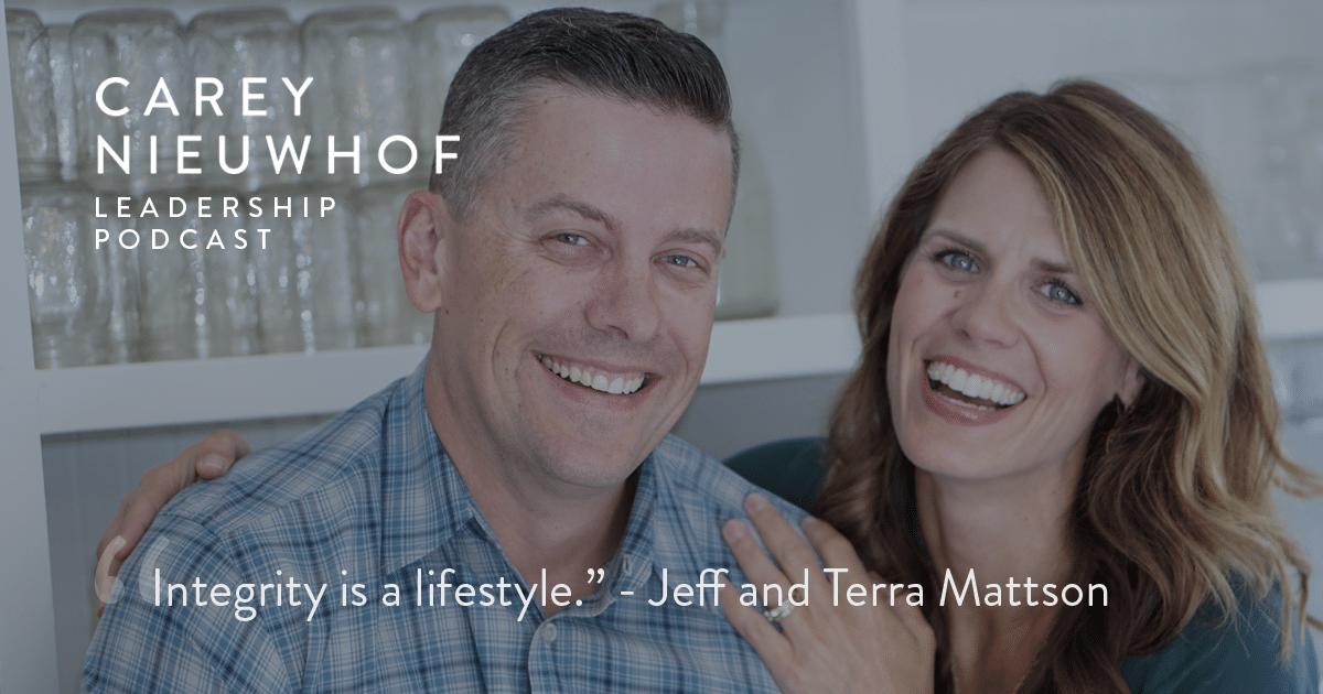 CNLP 386: Jeff and Terra Mattson on How to Tell If You're Heading for a Moral Failure, Signs of a Narcissistic Leader and How Platform Can Be a Trap for Young Leaders