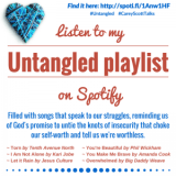 Spotify Graphic with hashtags