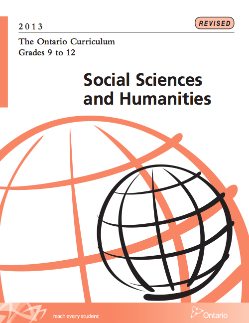 Social Studies and Humanities Curriculum for Ontario