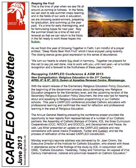 CARFLEO Newsletter June 2013