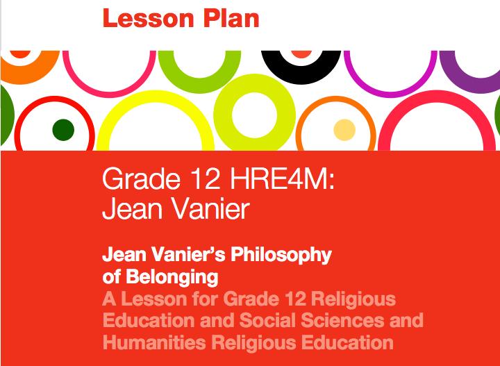 Lesson Plan on Jean Vanier