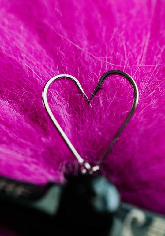 Valentine's Day Hook Hearts and fly tying