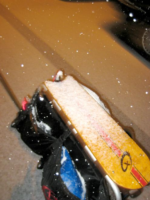 snapdeck with a lil' bit o' snow