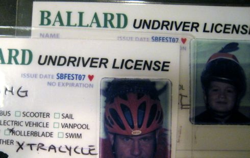 UNdrivers license from the Ballard Sustainability Festival Sept07