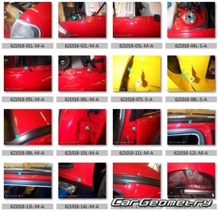 Кузовные размеры Фольксваген Поло Classic (6V) Седан 1996 ...