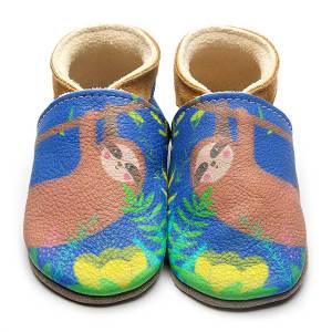 sloth-blue-leather-inchblue-baby-shoe