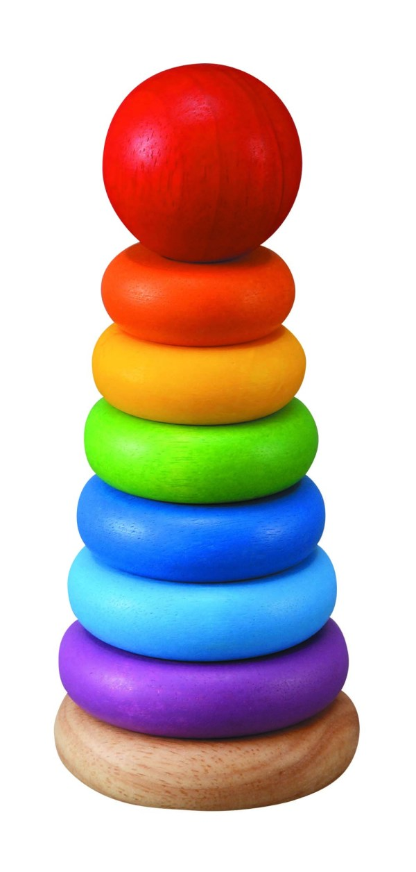 Brightly coloured stacking ring