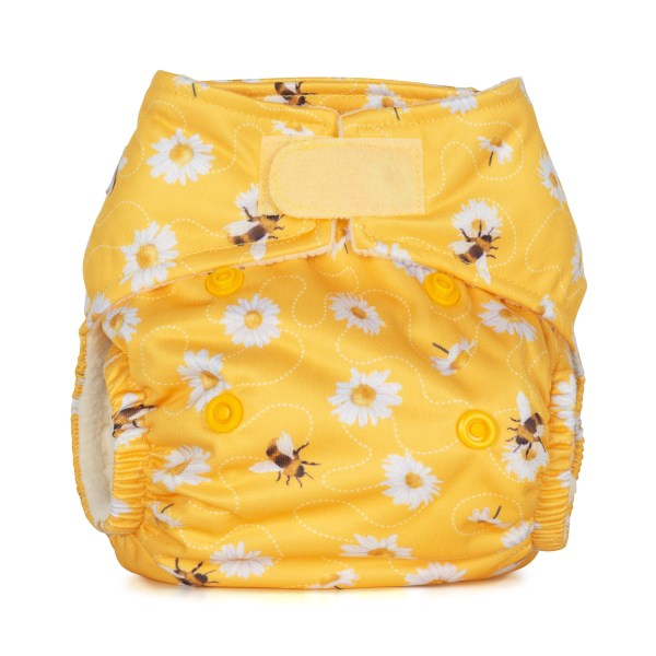 Baba+Boo Daisies Newborn Reusable Nappy