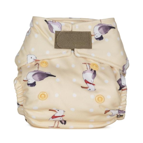 Baba+Boo Seagulls Newborn Reusable Nappy