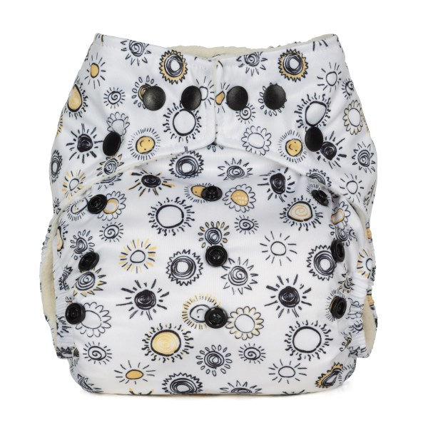 Baba+Boo Sunshine One Size Reusable Nappy