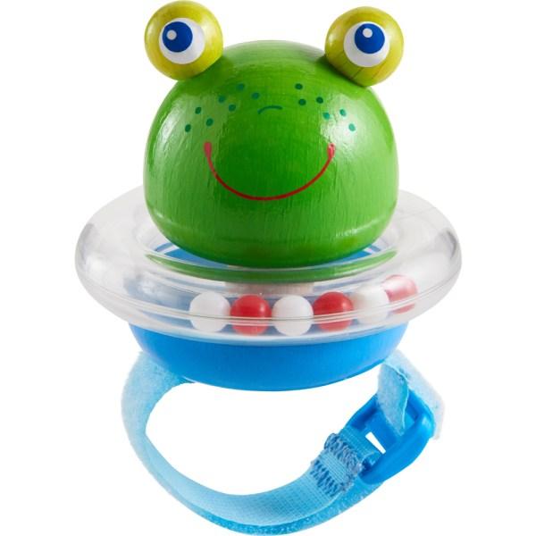 pram buggy frog toy