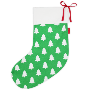 green christmas tree stocking