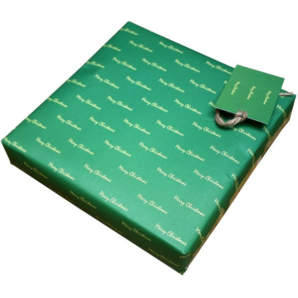 green christmas paper