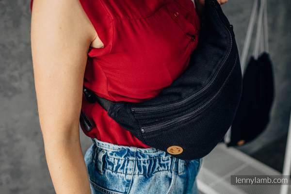 waist bag jurassic herringbone ebony black