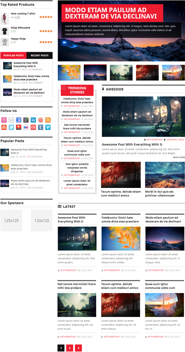 Homepage layout 3