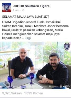 Mario Gomez Calon Jurulatih Harimau Malaysia