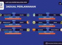 Jadual Liga Super Malaysia 2019