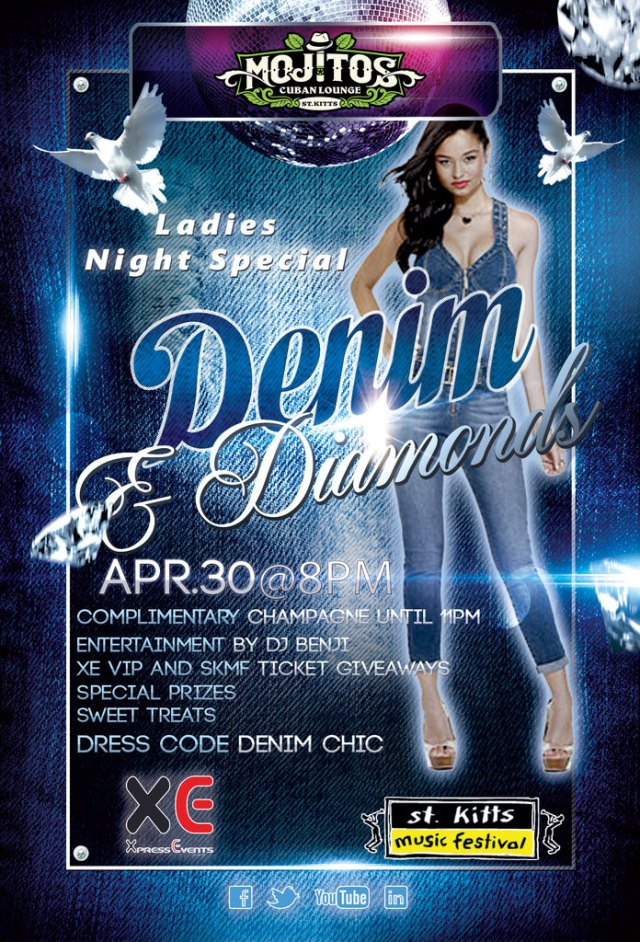 Denim & Diamonds: Ladies Night SPECIAL at Mojitos Cuban Lounge