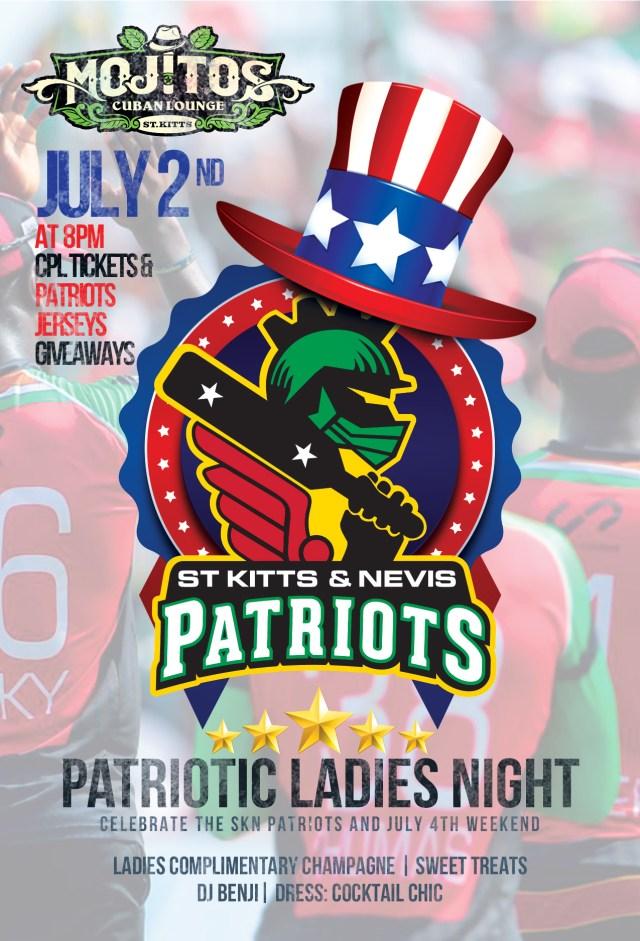 Mojitos Cuban Lounge Host Patriots Ladies Night