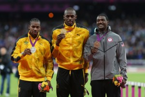 Deja Vu; Will the podium look like this come the end of the 100 meter final tonight? Or will a new star be born?
