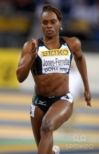 Determined; LaVern Jones Ferrette will hope to impress in what is likely to be her final Olympics in the women's 200 metre race.