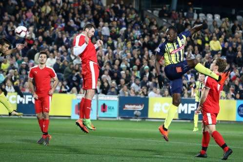 Bolt makes football debut at pre-season game in Australia