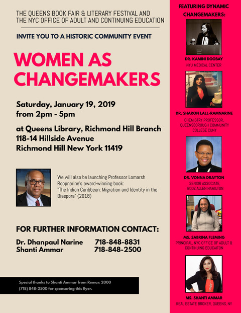 Dynamic Women as Changemakers Event – Richmond Hill. NY – January 19, 2019