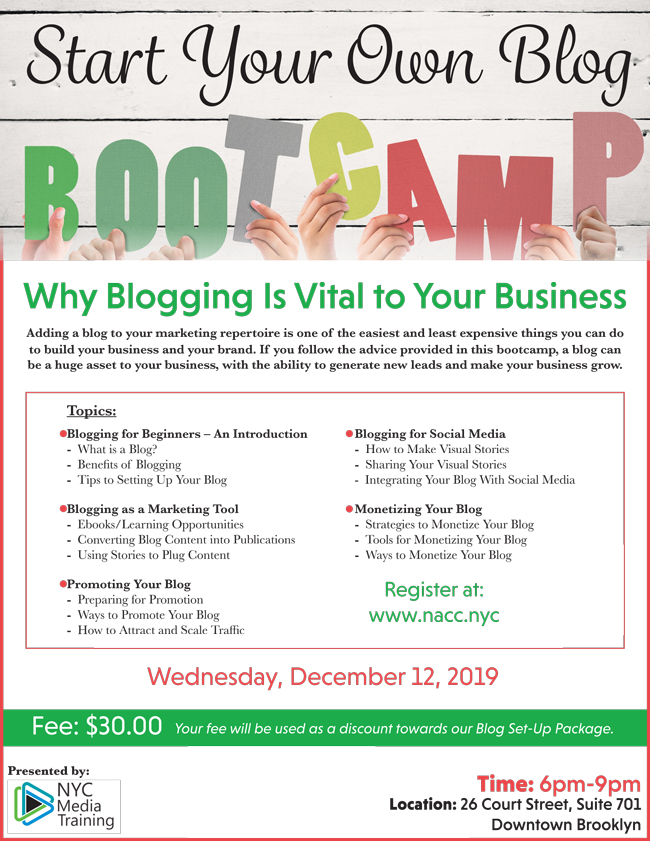 Start Your Own Blog Boot Camp