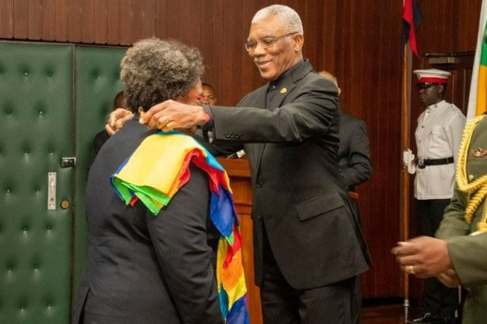 Barbados' Prime Minister Receives Guyana's Second Highest National Award