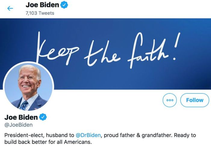 President-elect Biden, delete your account (really)