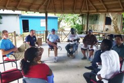 Photo Credit: Meetings between BBFFS, CRFI, CARIBSAVE and Sandals Foundations prior to the installation trip. Photo by M. McNaught.