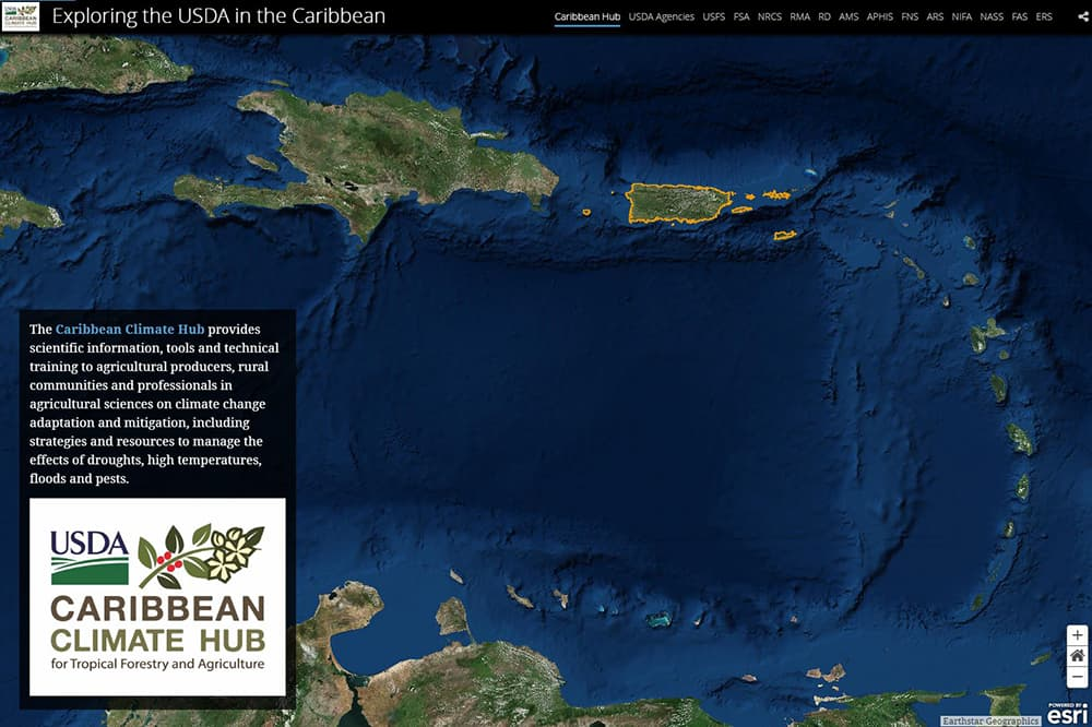 Story Map 1 USDA Caribbean