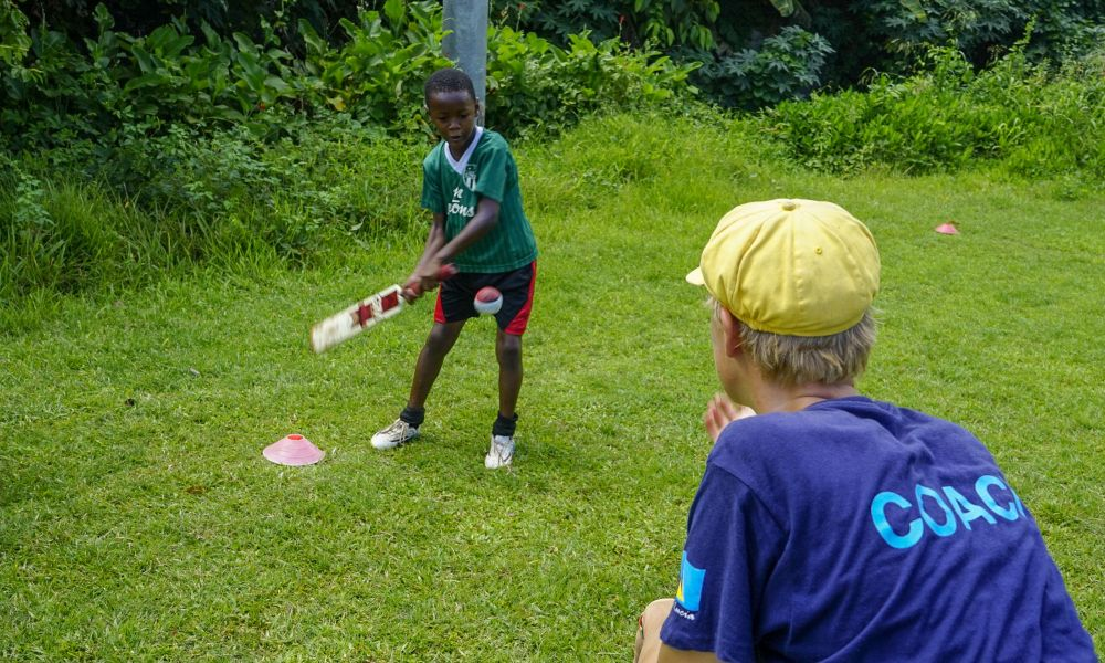 Cricket coaching project in the Caribbean