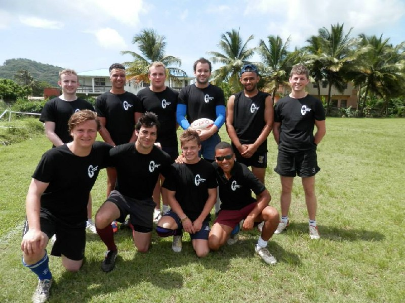 Caribbean Coaching volunteer form a rugby team for a national 7s tournament