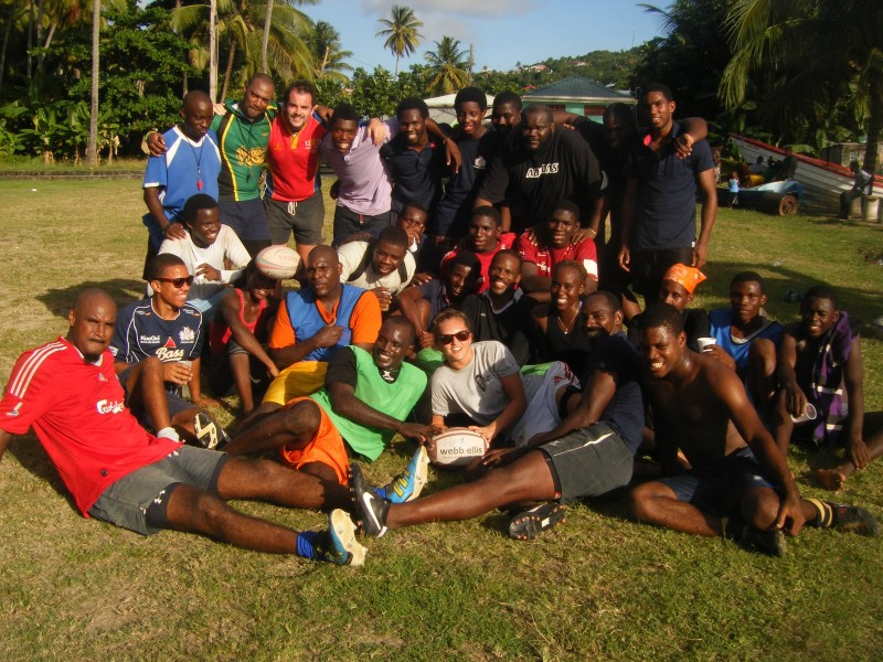 Caribbean Coaching volunteers helping to develop rugby in the south of St Lucia