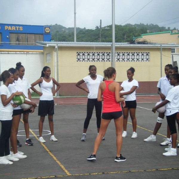 Netball session at summer camp