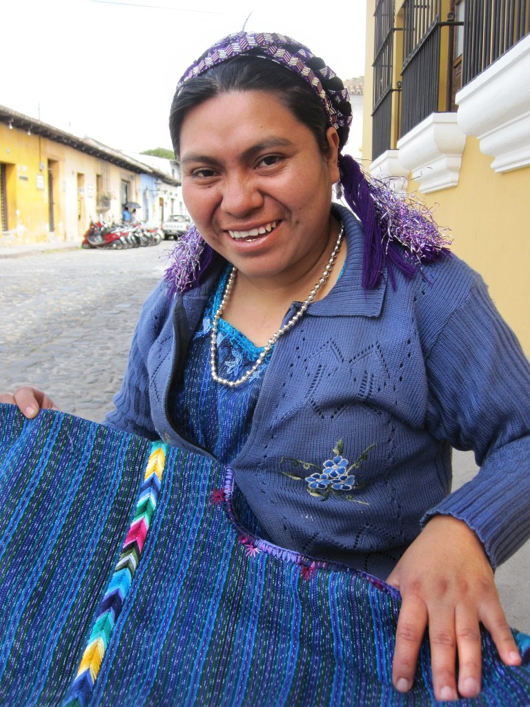 A Guatemalan woman who represents the face of the modern-day Mayan community found in areas like Belize, Guatemala, and Honduras.