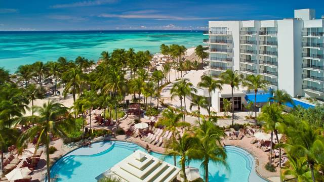 Aruba Marriott Resort aerial view