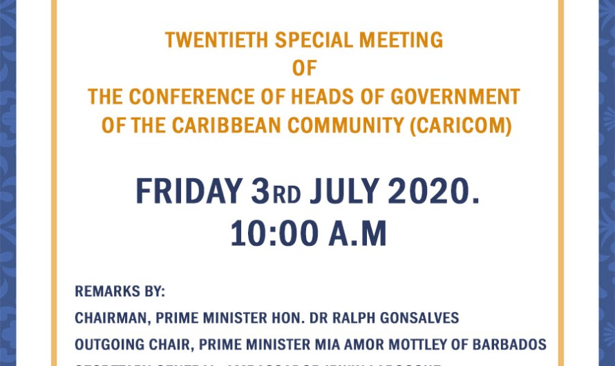 CARICOM Heads of Government meet Friday – Handover of Chairmanship to feature