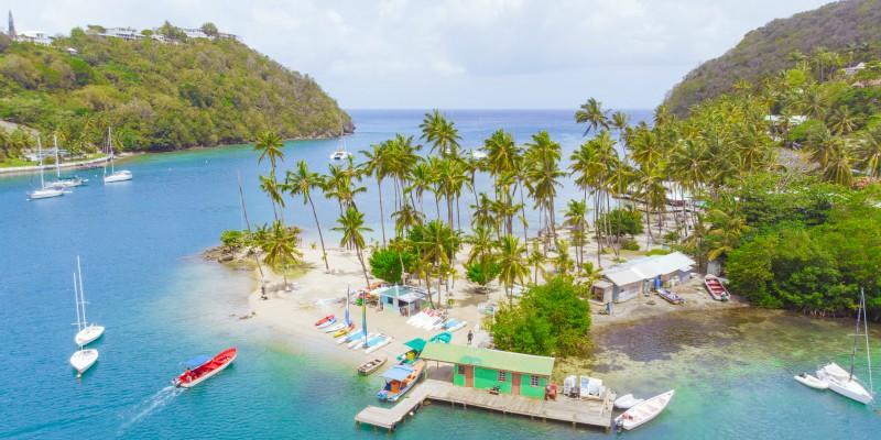 Marigot Bay with Caribbean Warehouse