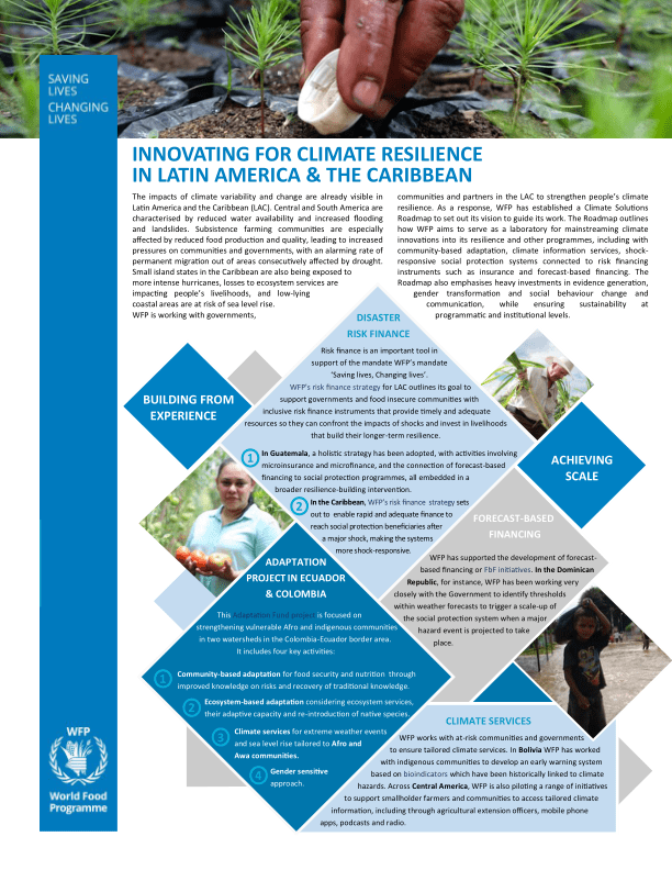Innovating for Climate Resilience in Latin America & the Caribbean