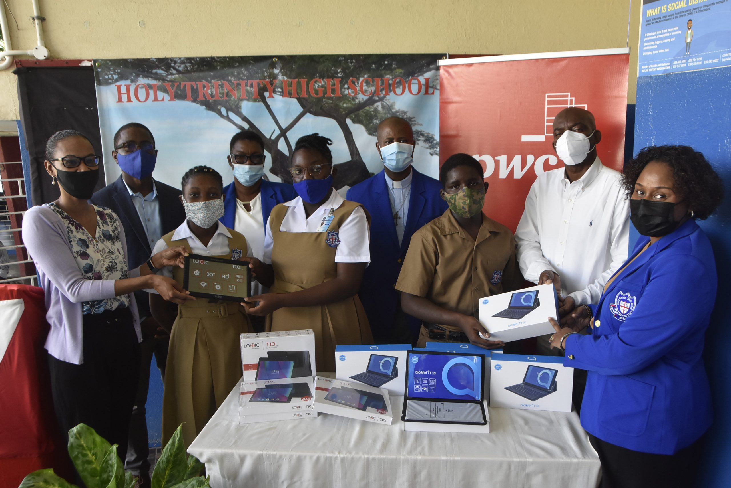 PwC Jamaica Donates 40 tablets to Holy Trinity High School