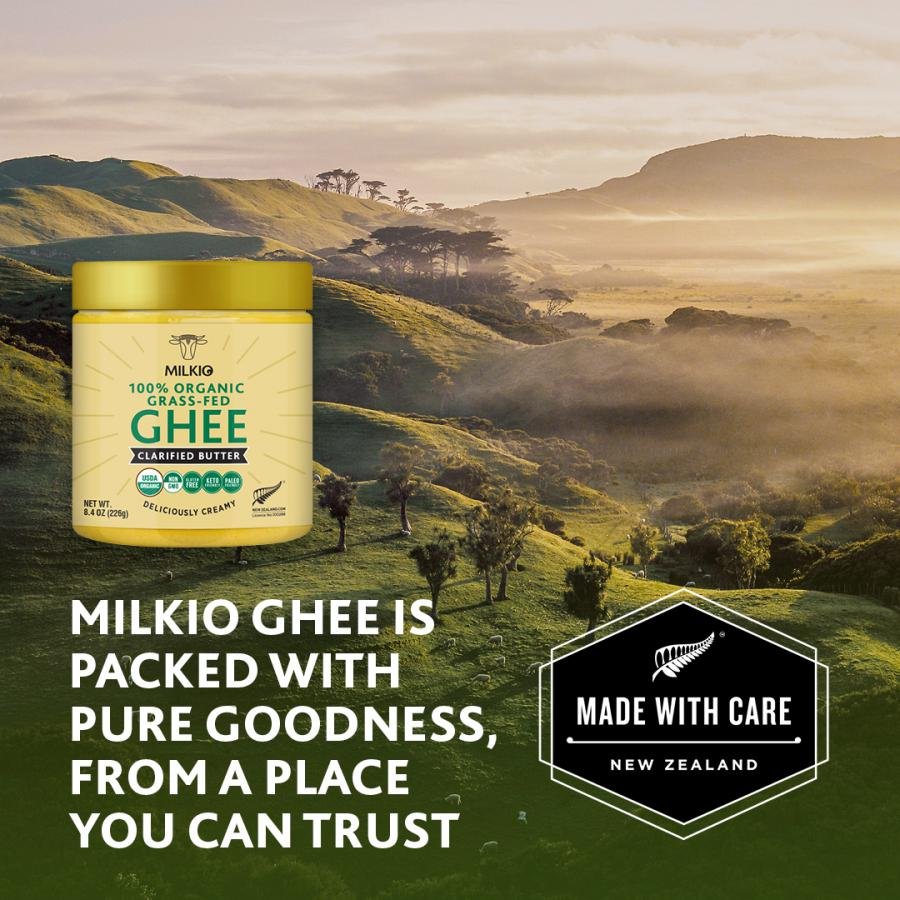 Milkio grass-fed organic ghee has earned good consumer feedback