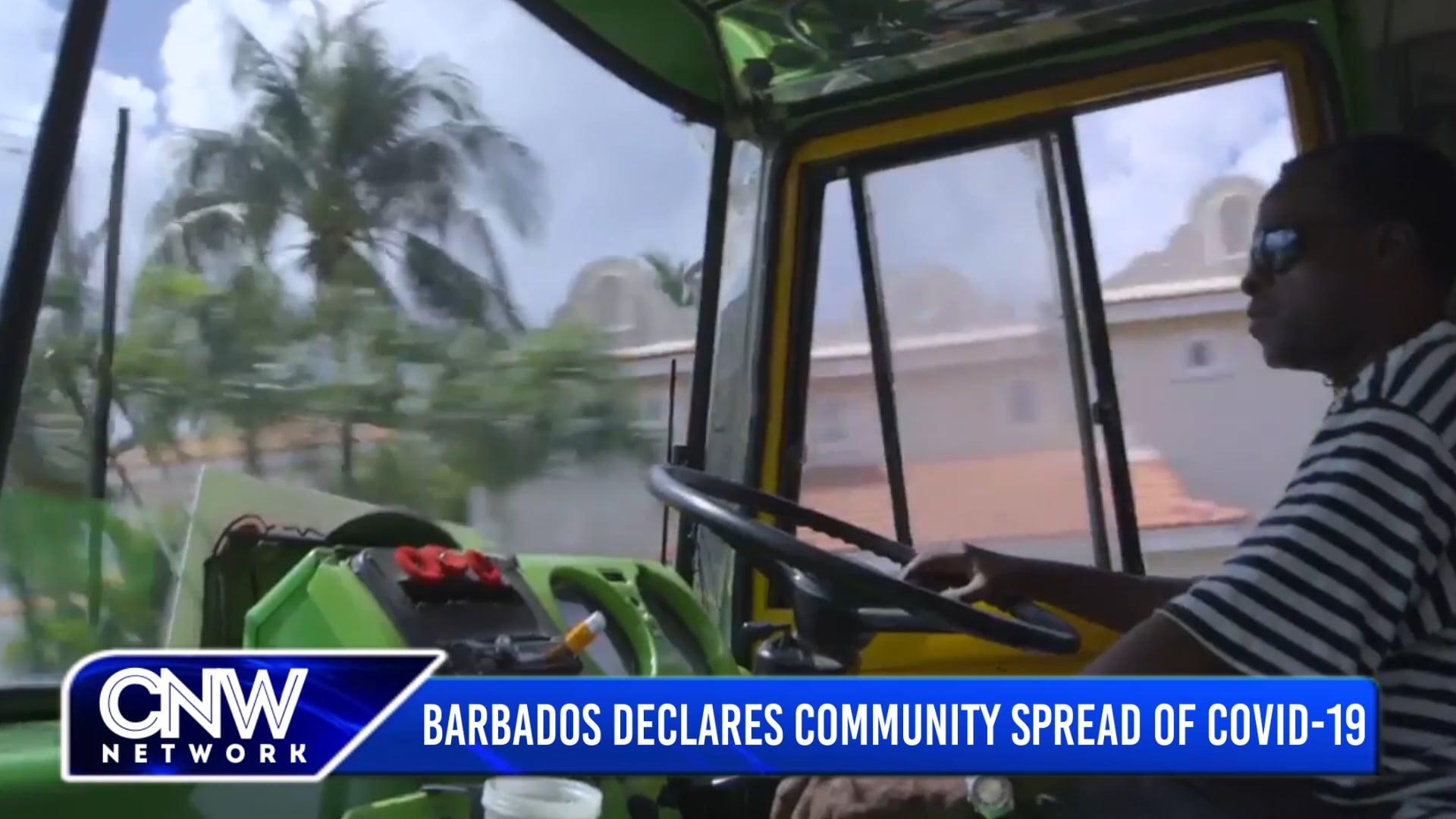 CNW90 January 25, 2021: Barbados Declares Community Spread of COVID-19