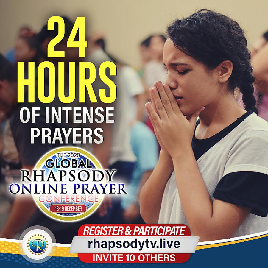The GLOBAL Rhapsody Online Prayer Conference is here again