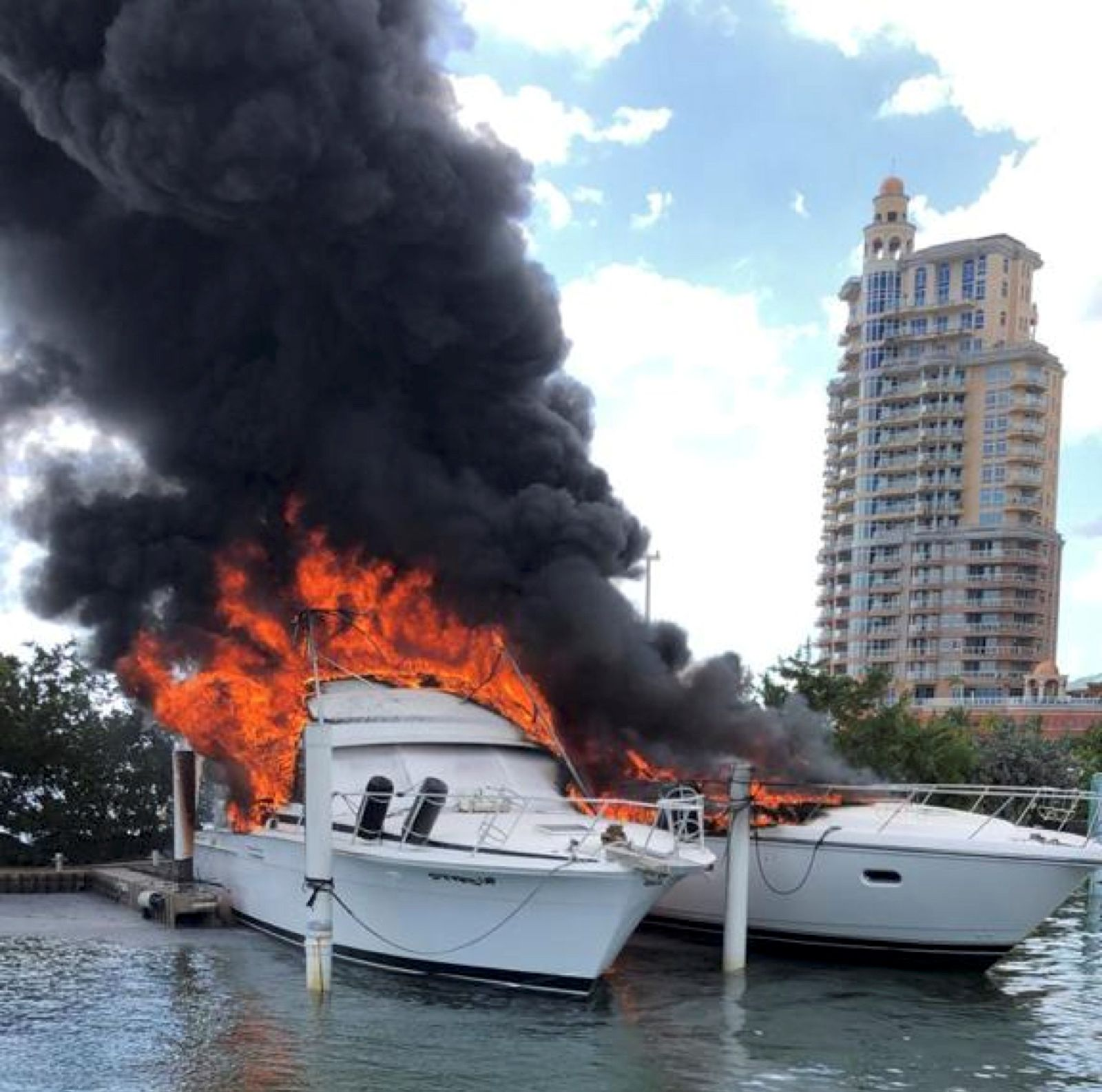 Million-dollar yachts destroyed by fire in Trinidad