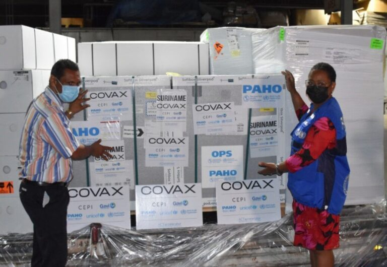 Suriname Receives First COVID-19 Vaccines Through the COVAX Facility