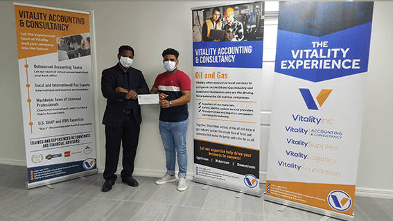 Vitality Inc sponsors cricket tournament and educational Scholarship for BCB