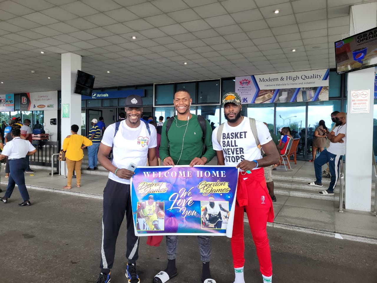 Moe and James brothers arrive in Guyana