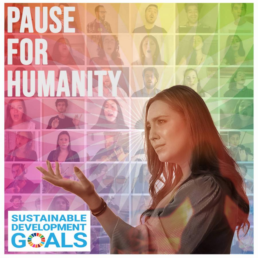 """Mayssa Karaa and 88 global musicians create""""PAUSE FOR HUMANITY,"""" a"""